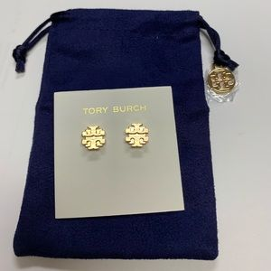Gold Tory Burch Earrings new with dust bag